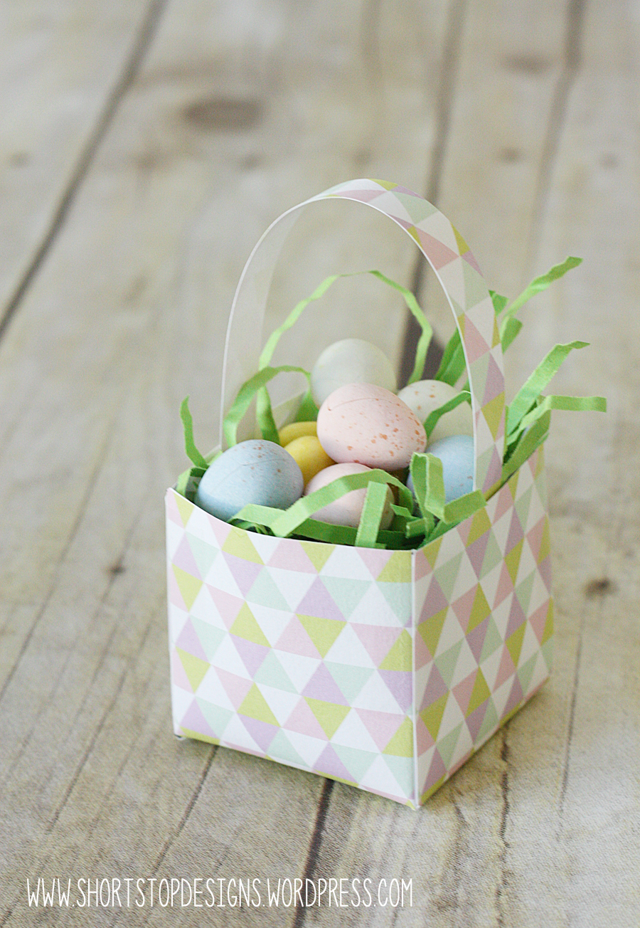 Mini Easter Baskets – Free Printable – Short Stop Designs