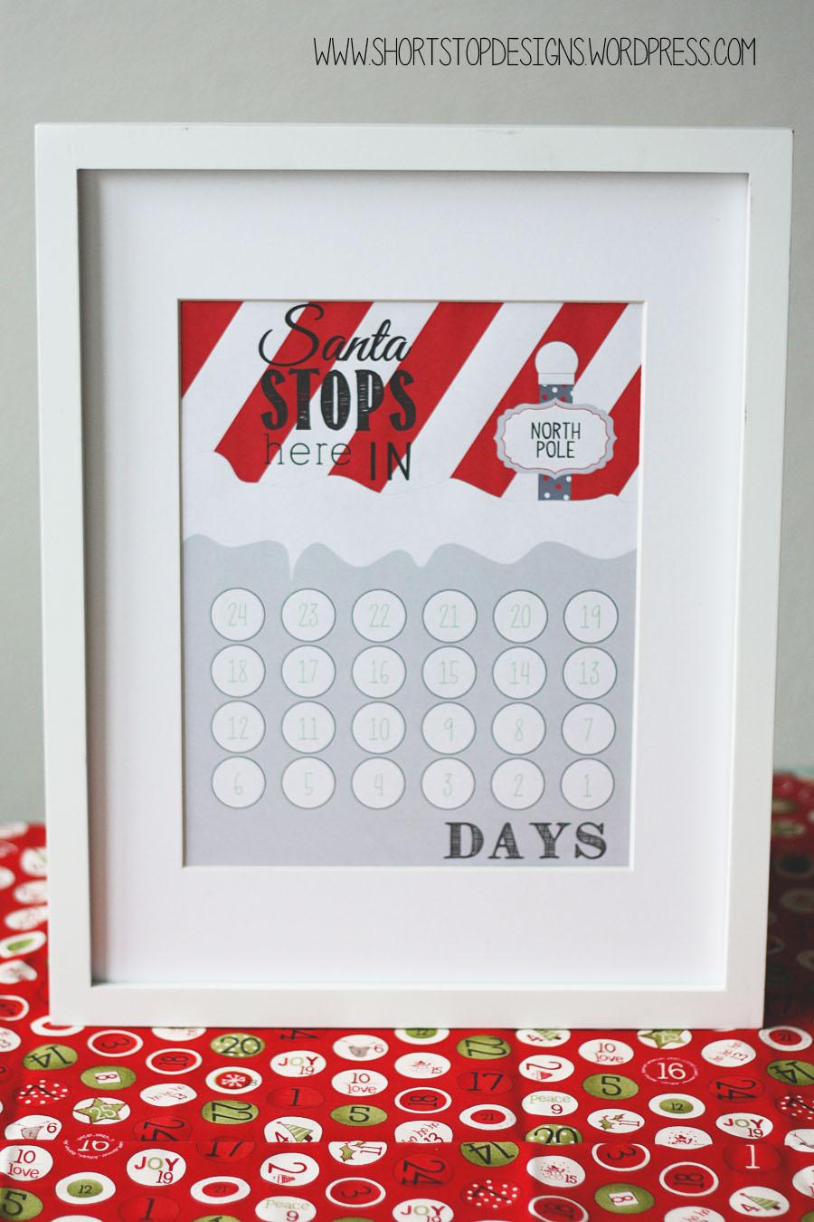 """Santa Stops Here"" Christmas Countdown - Free Printable ..."